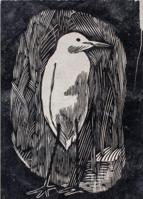 不知归路,广军,版画,20*14.5厘米,1978年,作品由冯兮提供