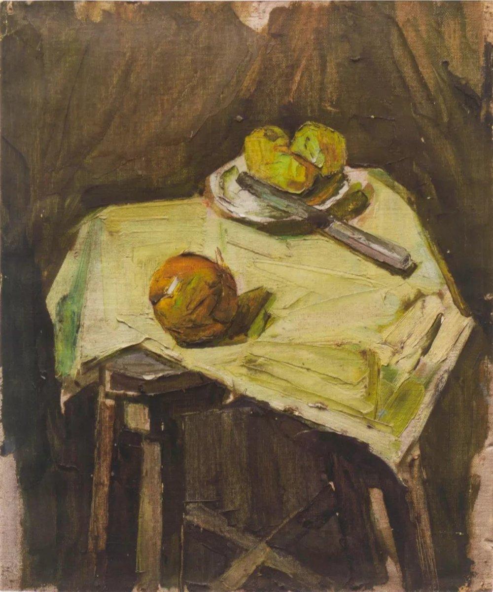 《静物》,布面油画,1975年