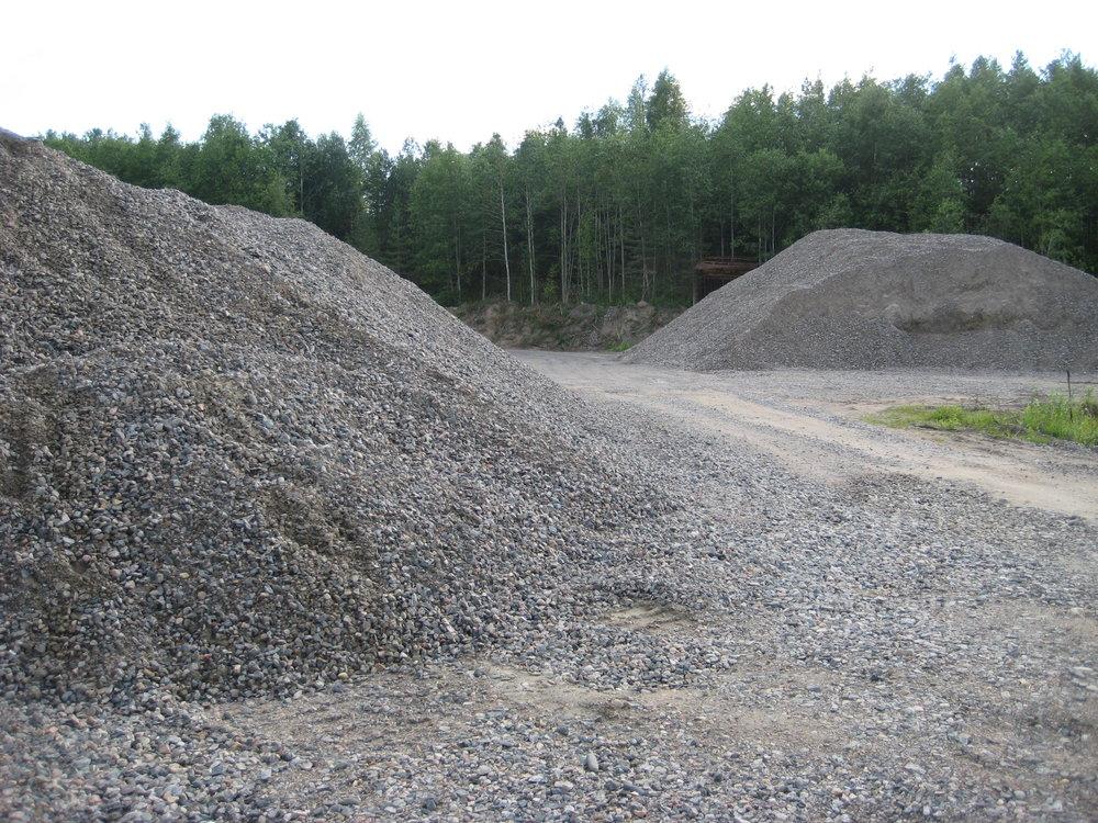 Kuljetuspolarin Sievin Jyringin kiviainesten ottopaikka.