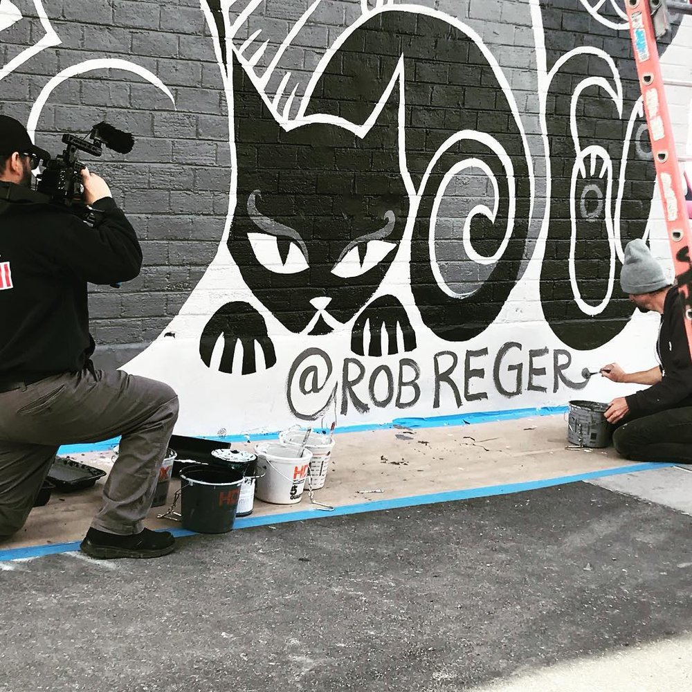 Thank mew ROB REGER of Emily the Strange for DONATING this beautiful mural!