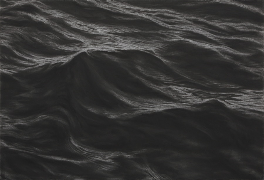 1 파도  Waves, charcoal on paper, 76.5x111.jpg