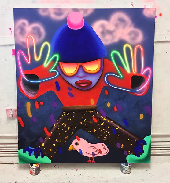 Bombay Bad Boy, 120 x 140cm, acrylic and airbrush on canvas, 2018.jpg