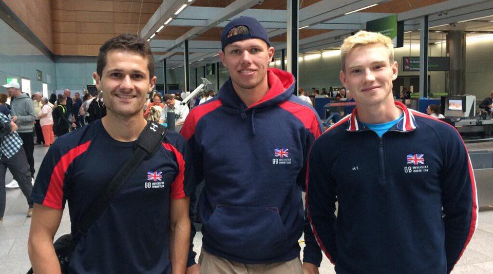 Queen's Rowing at EUSA. Chris Beck, Sam McKeown, Miles Taylor
