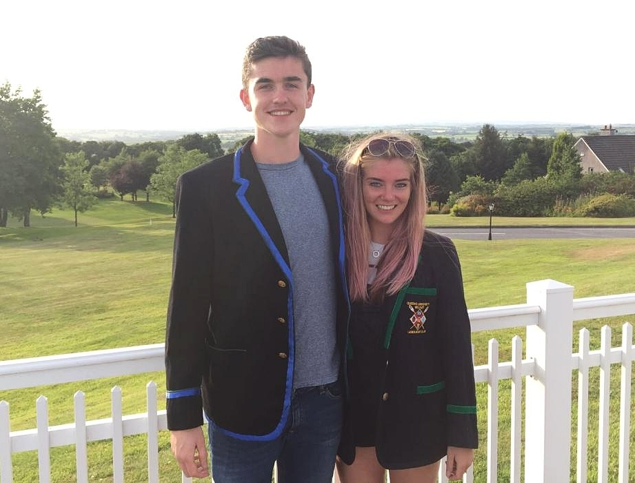Queen's Rowing Captains Paddy Holden and Vikki Wallace