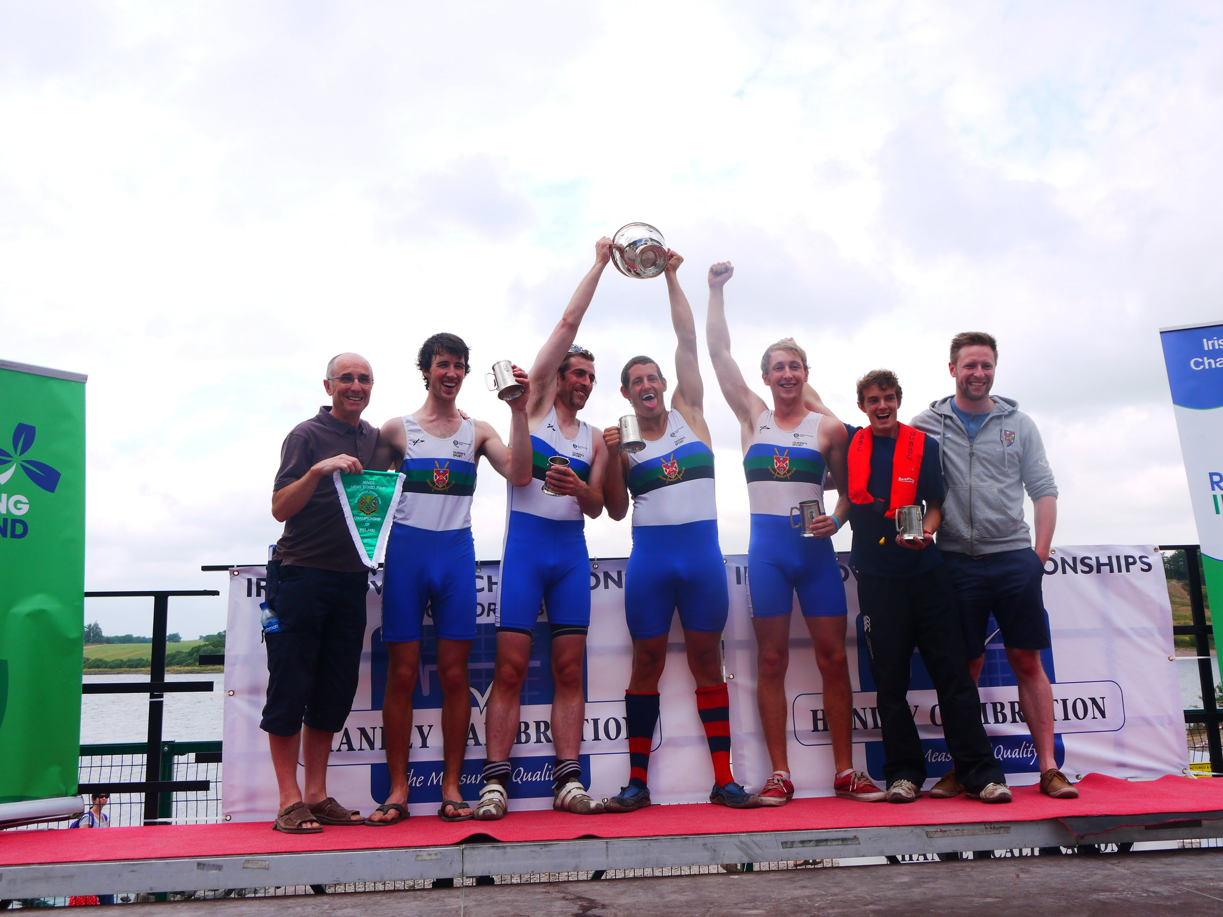 QUBBC Men's Novice Coxed Four Irish Champions 2013