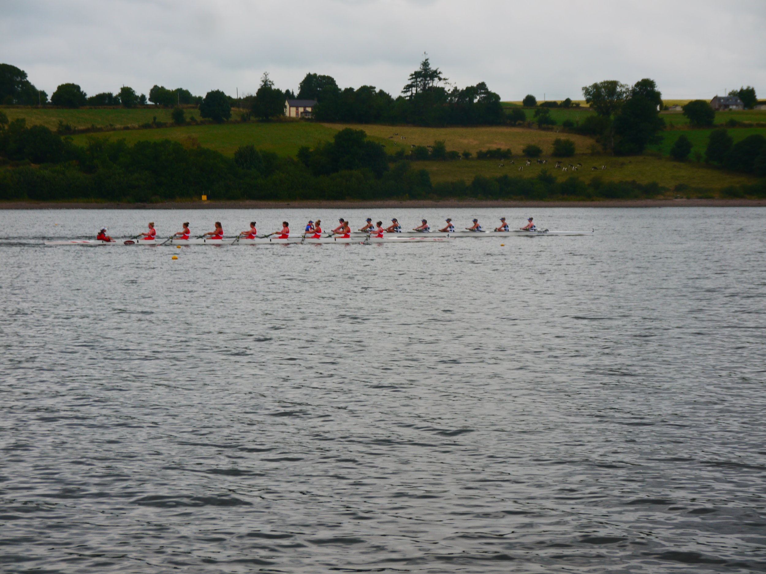 QUBLBC Novice Eight winning their Final