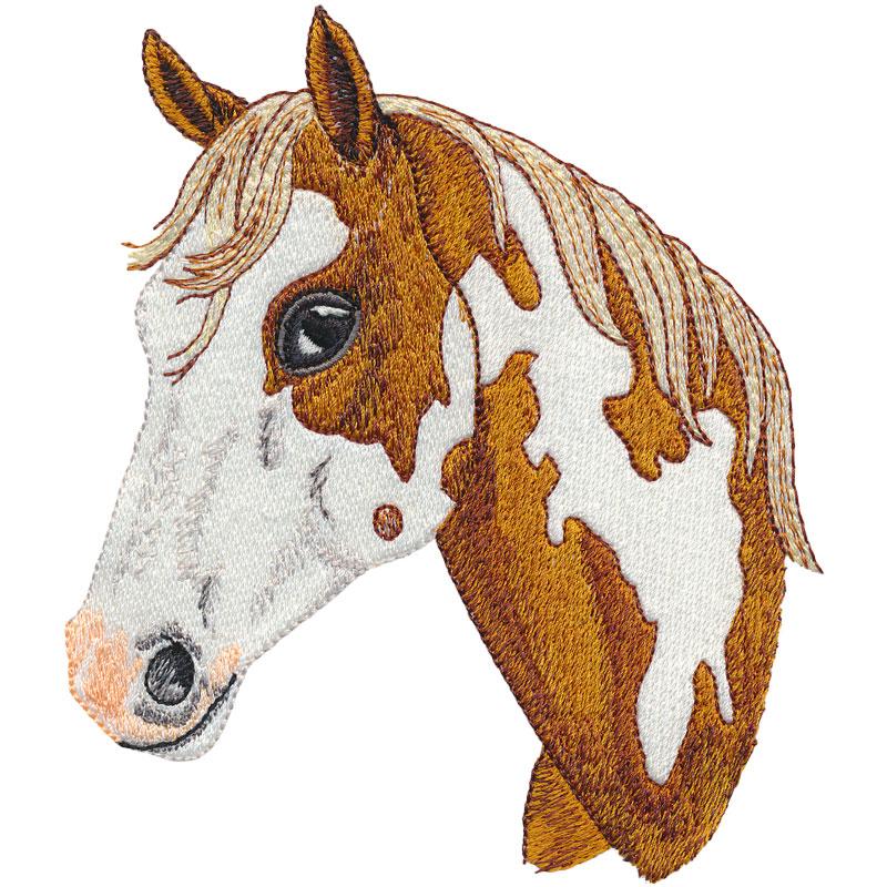 PL03 Paint Horse Head