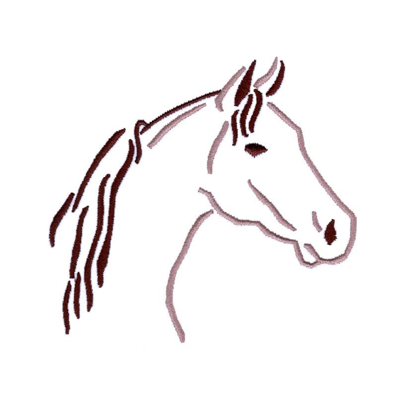 PL25 Horse Head Outline