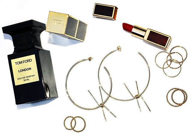 SOFIA HOOPS AND STACKABLES ALONGSIDE  TOM FORD OF COURSE • #ciaoriri . . . . . . #inspo #handcraftedjewellery #babesofinstagram #babes #jewellery #jewelry #girls #girl #earrings #love #fashionblogger #fashion #madeforbabes #instagood #instadaily #instafashion #gold #silver #pinterest #womensfashion #silverearrings #goldearrings #madeinaustralia #ethical #adelaide #girlboss #tomford #tomfordperfume  #tomfordlipstick