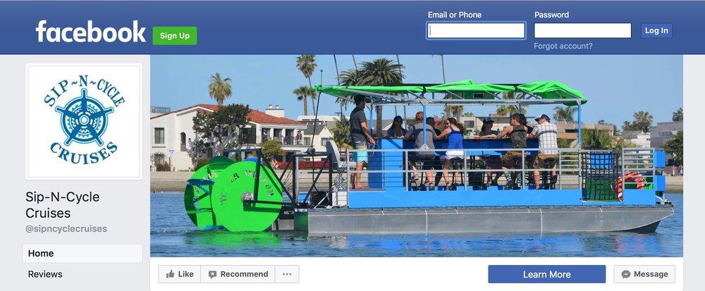 Sip-N-Cycle Cruises Facebook Page