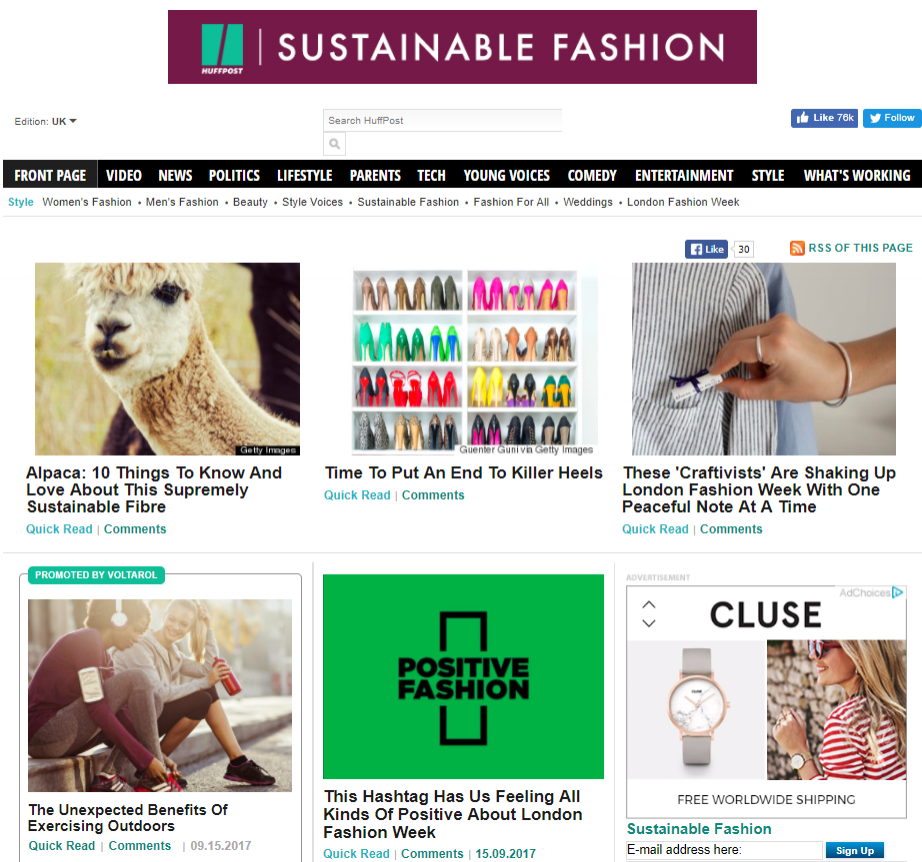 huffpost sustainable fashion