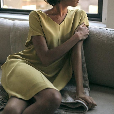 Eileen Fisher - Elegant, made in US, mainly use sustainable fibers.Based In: USPrice Range: €€€Shipping: Free to the US; Worldwide for a fee.Webpage: www.eileenfisher.com