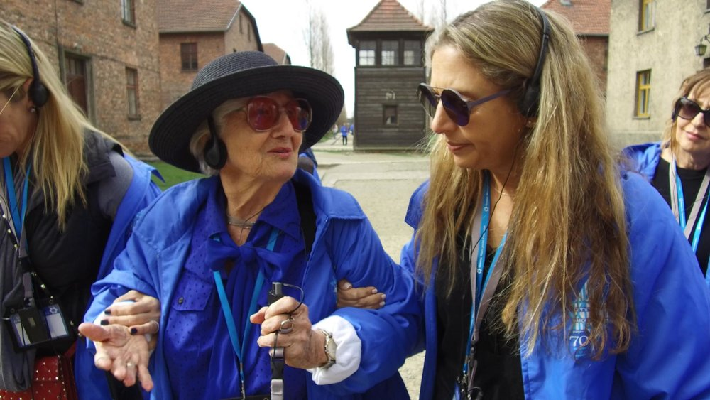 Auschwitz-Birkenau: Holocaust Internship participant Magda Bader outside the gas chamber where she lost her family as a child.