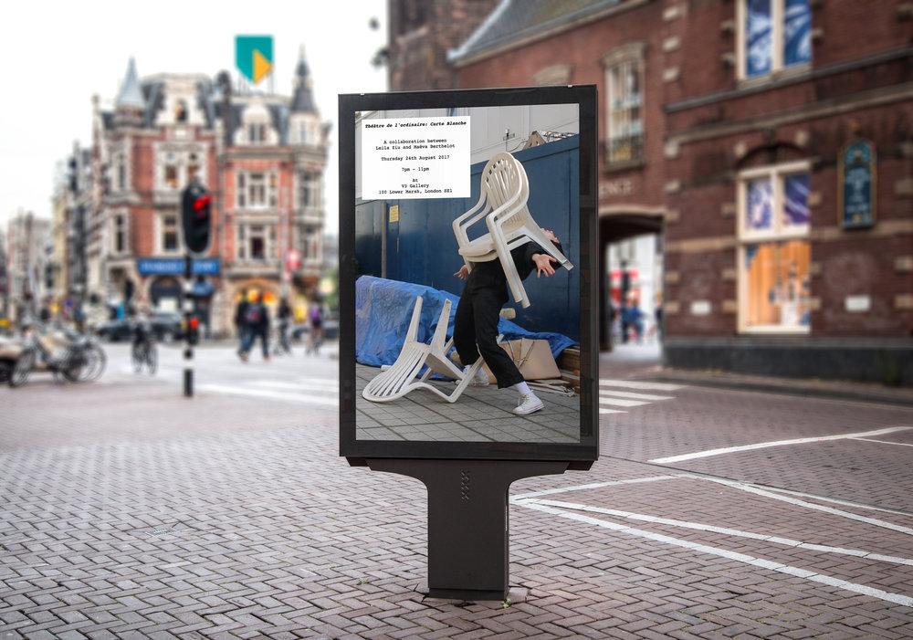 Théâtre de l'ordinaire: Carte Blanche Show. Promotional Material. Amsterdam. 2017