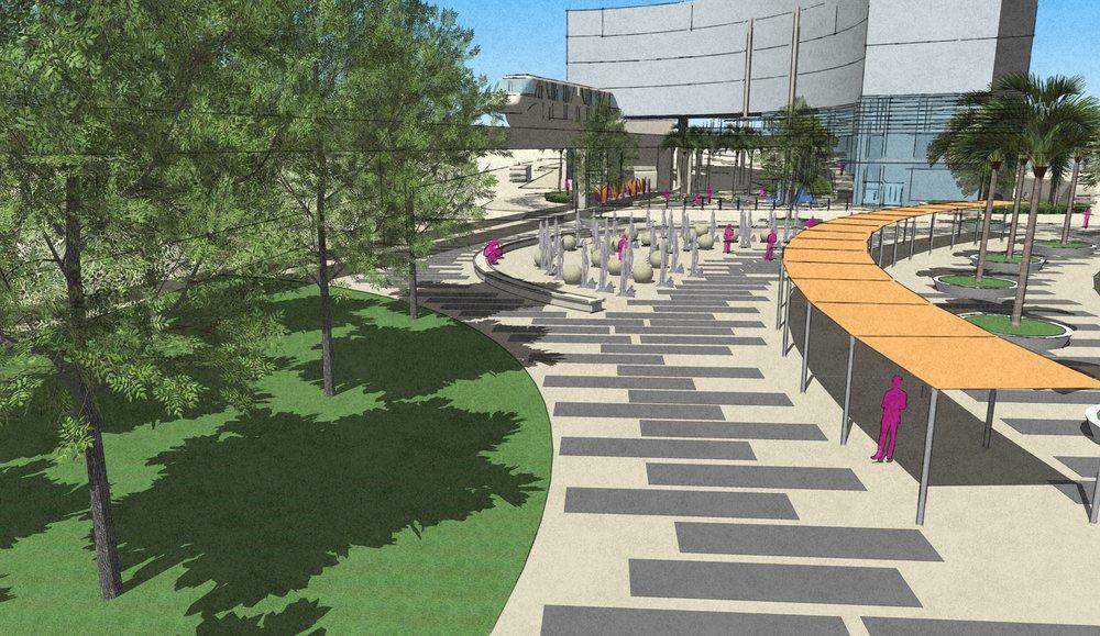 JTA Plaza Conceptual Design, Jacksonville, Florida