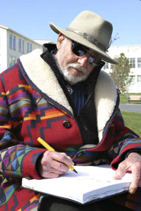 Lawrence Halprin Sketching - Photo by Will Walker, The Hook, Issue 726, June 28, 2008