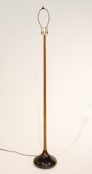 George Scatchard Wood And Ceramic Floor Lamp Artifacts 20th
