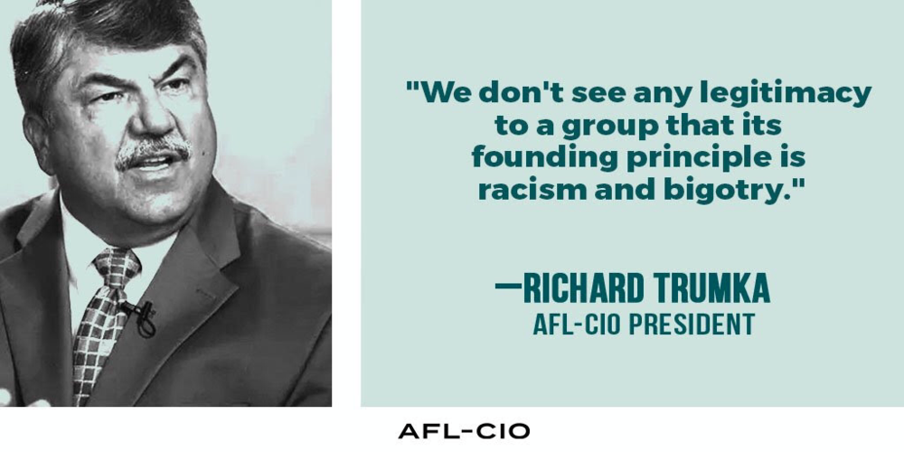 Richard Tumka, our AFL-CIO President, after Charlottesville