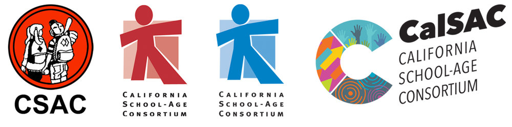 The evolution of CalSAC logos from the beginning to today.