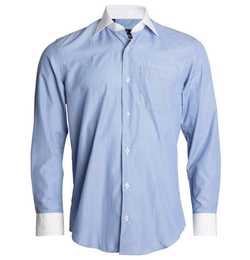 Ah, the crusty-owner-of-an-NFL-franchise uniform. While we think the contrast collar is soooooo last century, this dress shirt will serve your co-workers a reminder that you were actually at their wedding.