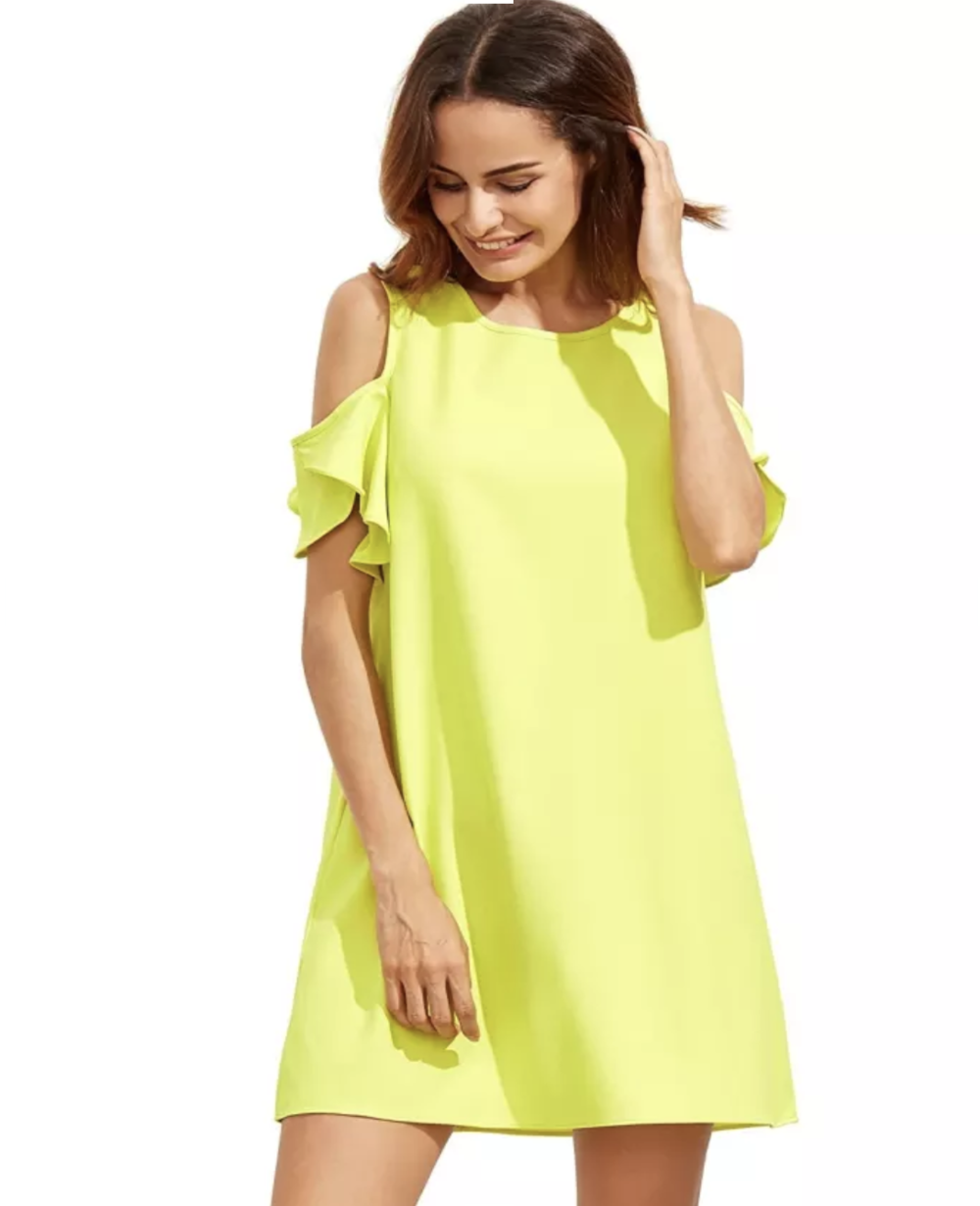 "The Shift - Summer hookups are gonna be lining up to slide in your DMs once you show them this sexy shift dress that wants everyone to know, ""I think you're so brave for living in the hundreds."""