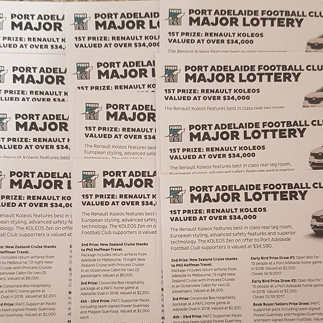 Posted back the booklet today for @pafc Lottery. Get it on it Port fans but not too many.. ;)