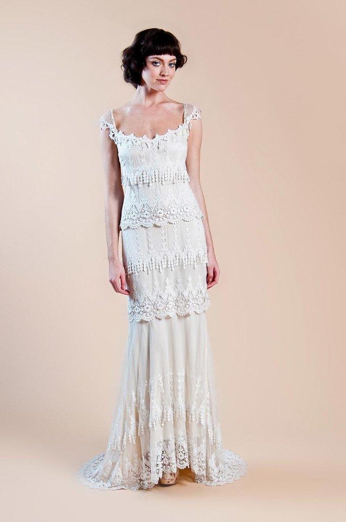 Kristine gown, $3,800,  Claire Pettibone
