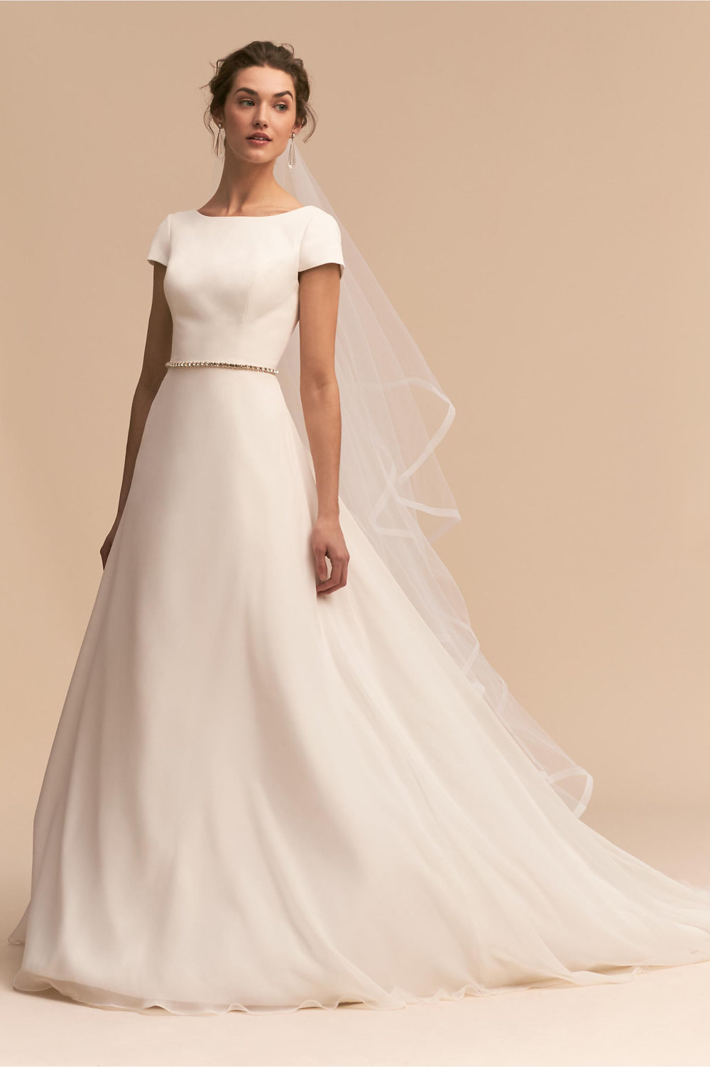 Whispers & Echoes Crest Gown, $1,200,  BHLDN