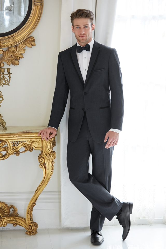 Graphite tuxedo, price not listed,  Madison James