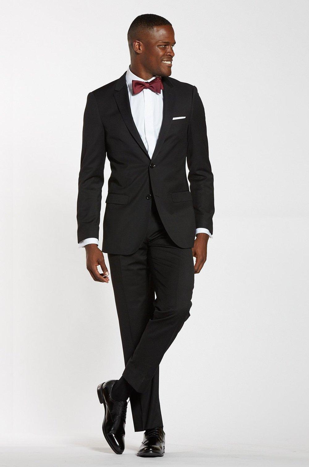 Classic Black Jacket, $119,  The Groomsman Suit