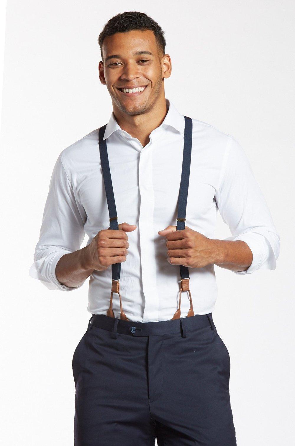Navy Baby - Classic Navy Suspenders, $49,  The Groomsman Suit