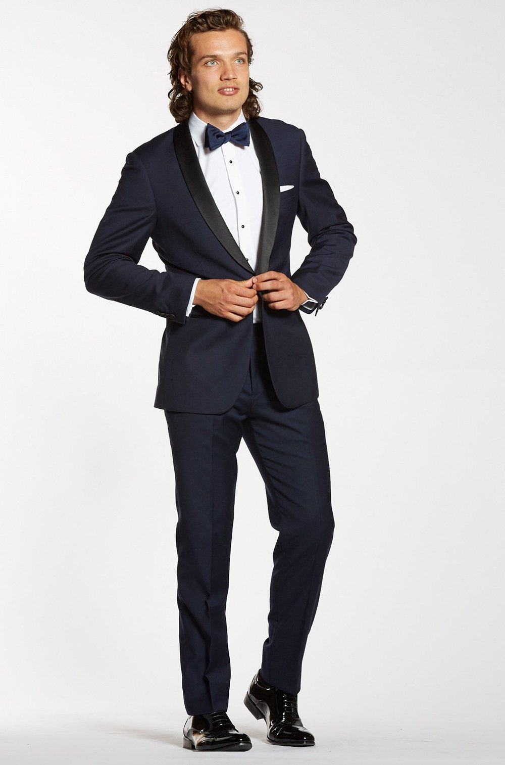 Premium Shawl Lapel Navy Tuxedo Jacket, $189,  The Groomsman Suit