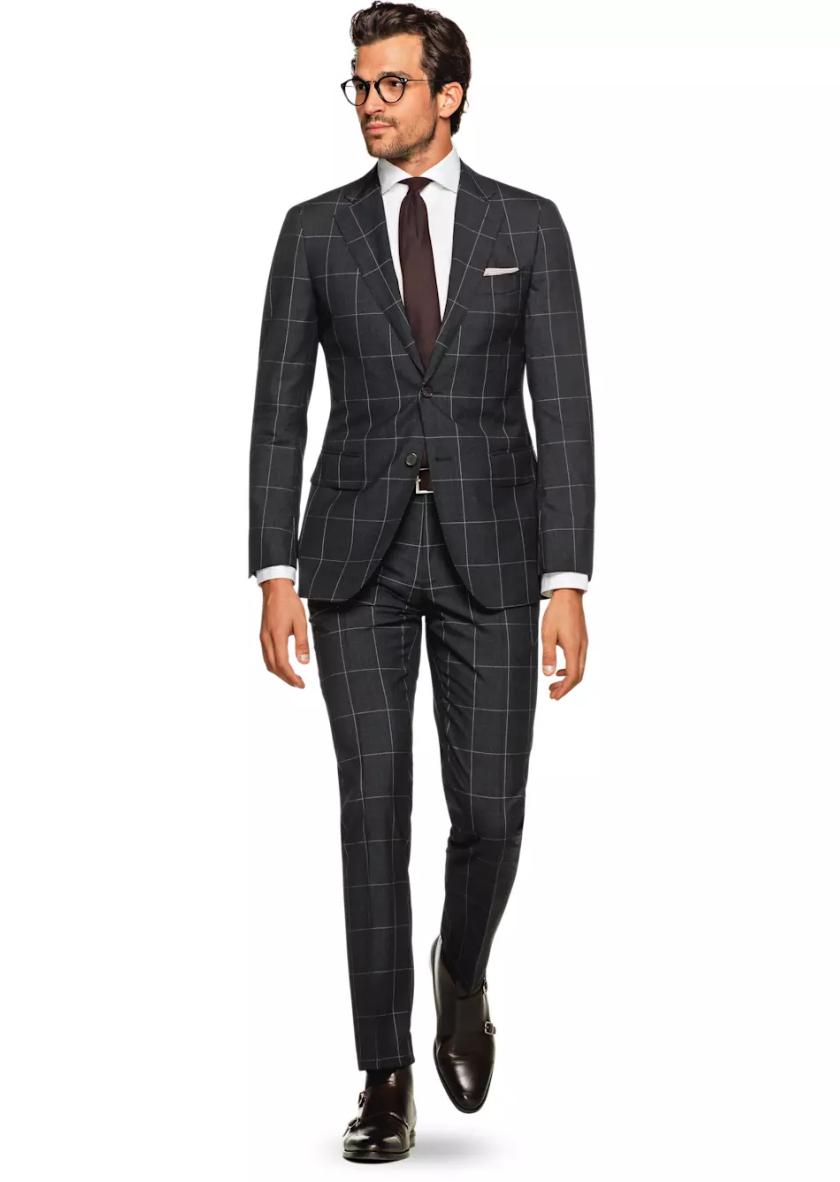 Lazio Grey Check, $499,  Suit Supply