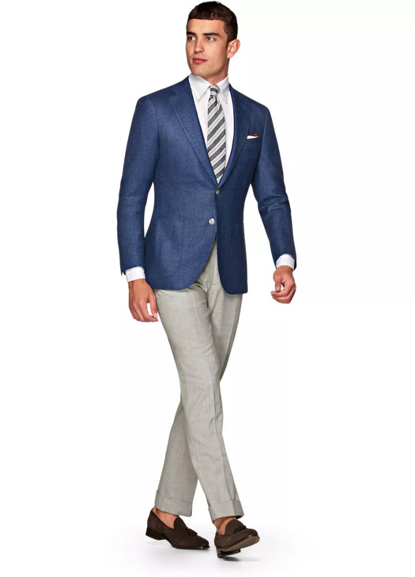 Jort Blue Plain, $639,  Suit Supply