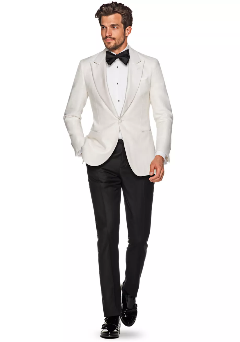 Lazio Off White Plain Dinner Jacket, $499,  Suit Supply