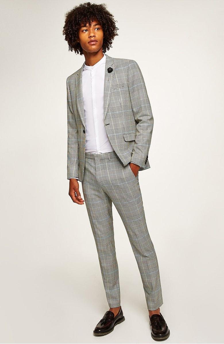 Skinny Fit Houndstooth Suit Jacket, $240,  Topman