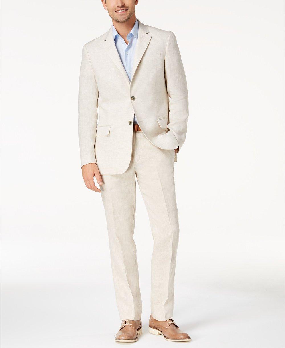 Men's 100% Linen 2 Button Blazer, $79.99, Tasso Elba created for  Macy's