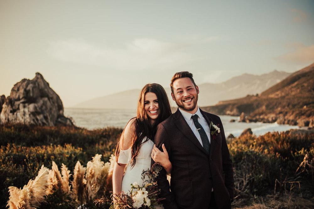 Natalie & Rocky - Big Sur, CAVenue: The coast of Big SurPhotographer: Tessa TadlockBest part of our wedding? The fact that we did it