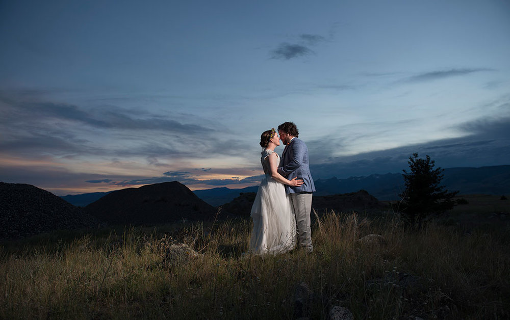 Stephanie & Michael - Livingston, MontanaVenue: Chico Hot SpringsPhotographer: Larry StanleyGuest Count: 110Best part of our wedding? The incredible landscape and fresh air framing our celebration of love, family, and future.