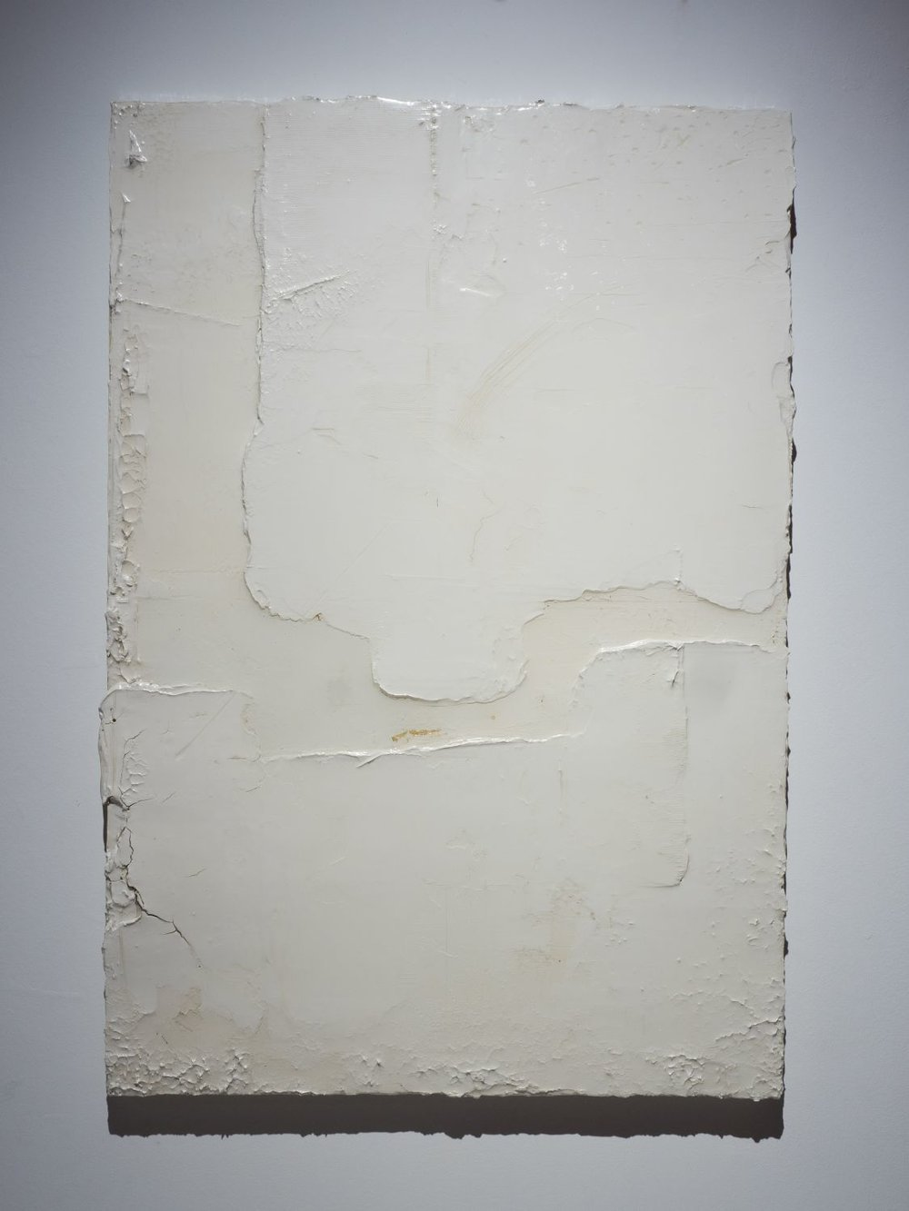 Delta, 2017, 130 x 90 cm, Resinated drywall plaster and gold leaf on wood.jpg