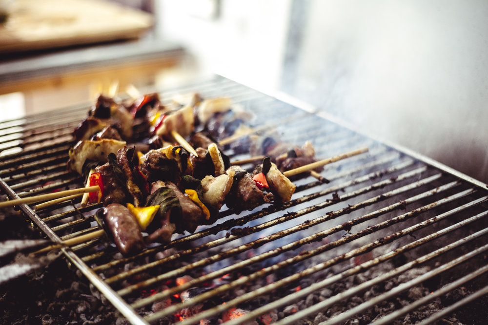 Beach + BBQ = Best Meal!  - Skip bad buffets for good grilled veggies and proteins!