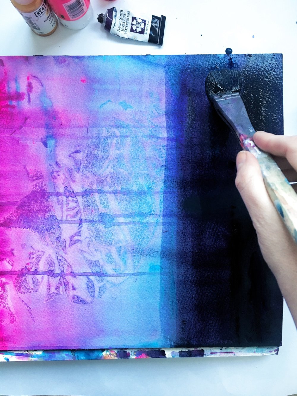 Helen Wells Artist work in progress