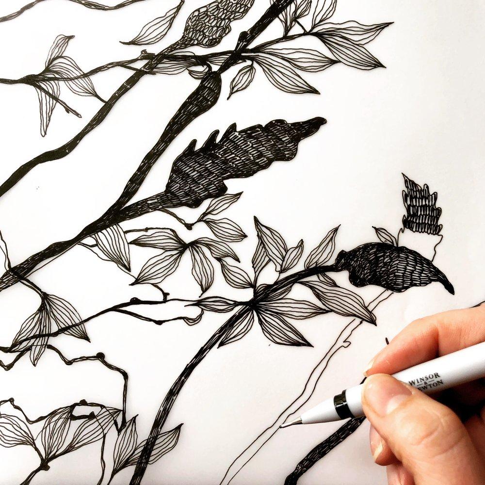 Helen Wells Art drawing