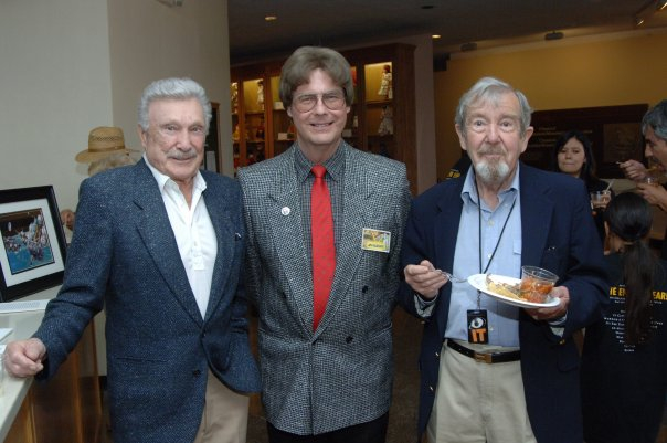 "The late Warren Stevens (""Forbidden Planet"") and Robert Nichols (""The Thing From Another World"" and ""This Island Earth"") with Jay at the opening reception of the 3rd annual   ""IT! Came From The '50s""   Filmfest. (Friday, May 26, 2006)."