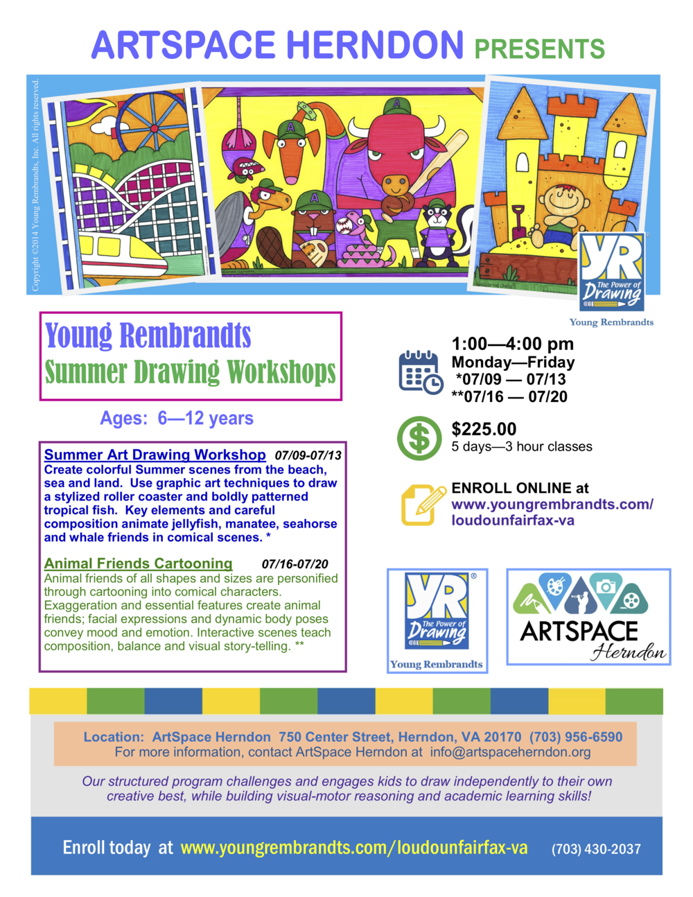 Young Rembrandts Summer Drawing Workshops — ArtSpace Herndon