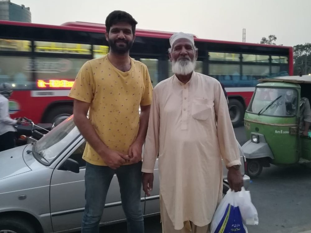 Meet Babaji- who visits our Jamesheere stall daily during Iftar-e-amaa. He earns a salary of 11,000 Rupees ($110) monthly, he supports his entire family with that income.  He told us few days ago he will donate to support our cause this Ramadan, and today he kept his promise. We received the most beautiful donation today, of 200 rupees. You know why it meant so much? Because of baba ji's smile and open heart. It makes a donation of any size full of love!