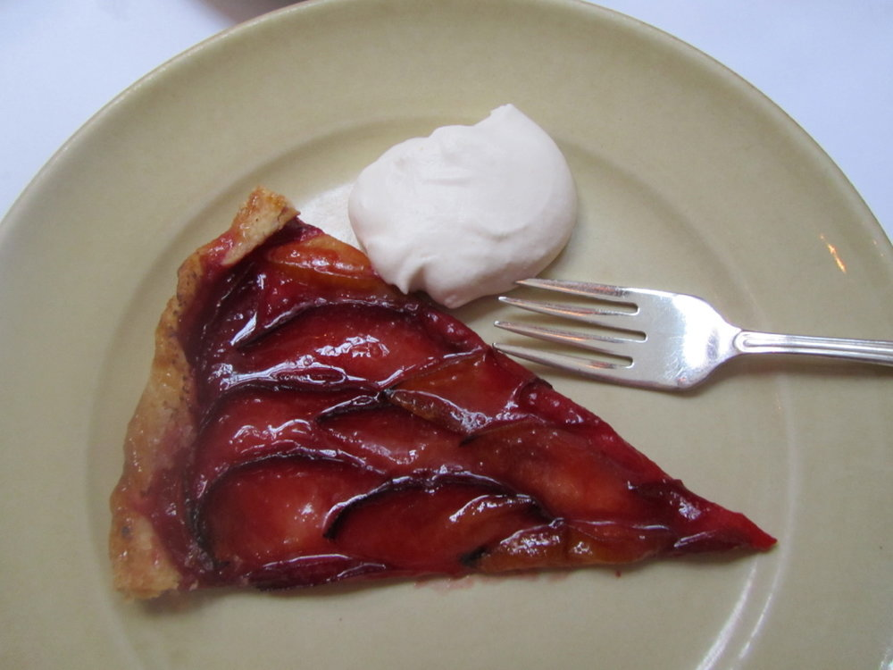 Pluout tart in Chez Panisse