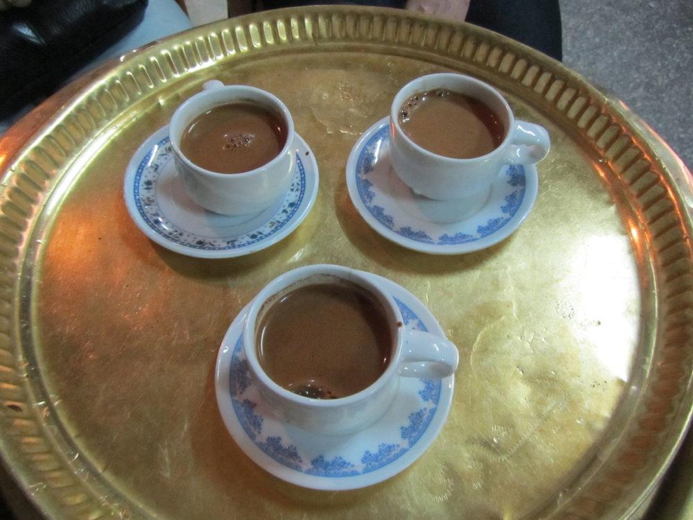 Arabic coffee in Cairo Egypt
