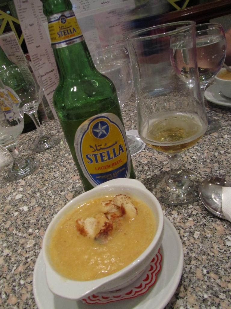 Lentil soup in Egypt