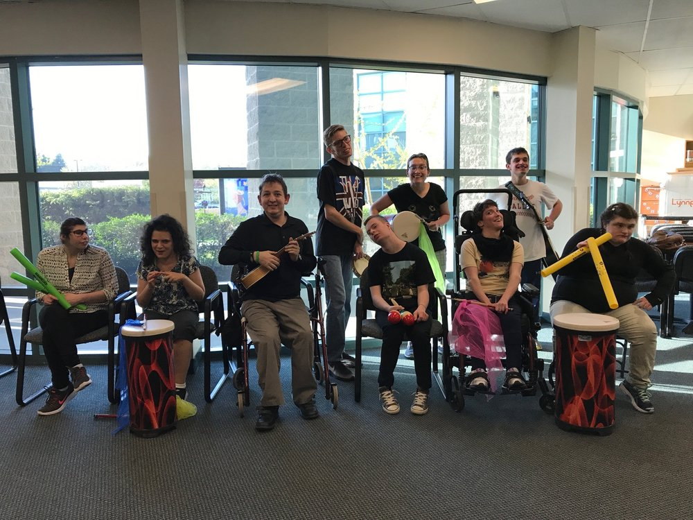 Pictured: Participants at the All Together Now music class's Showcase in May.